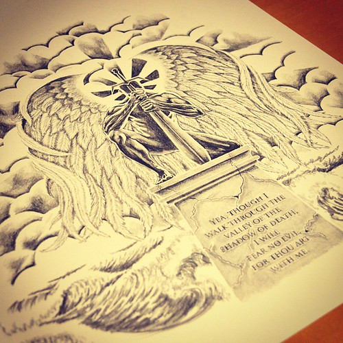 Guardian Angel tattoo design, no idea why I hadn\'t posted ...