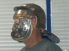 armour helmet, 2 (strap-wizard) Tags: roman helmet chrome armour noveltyhelmet