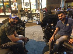 Met these brothers a saturday night in Manama, they where bored as all The rest in The country and where driving around in their new Gullwing motorcycles!