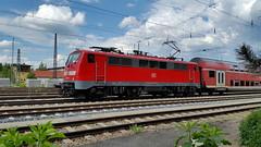 DB 111 159-0, Mnchen-Laim Rbf (dolanansepur) Tags: train railway zug db german bahn deutsche