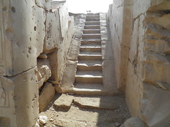 Ramesses II Temple, Abydos: Stairway to roof (dr.heatherleemccarthy) Tags: sunlight architecture stairs temple ancient stonework egypt stairway ramesses abydos