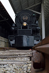 Taking a new spot (caltrain927) Tags: virginia nw norfolk engine railway class steam roanoke va transportation western locomotive muesum vmt a