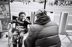 """Street Portrait."" (B.C. Lorio) Tags: nyc newyorkcity blackandwhite film monochrome manhattan streetphotography rangefinder midtown timessquare hp5 ilford olympusxa believeinfilm"
