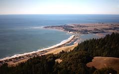 Stinson Beach spit, Bolinas, and Bolinas Lagoon (birdgal5) Tags: california bolinas marincounty stinsonbeach bolinaslagoon 35mmslide mounttamalpaisstatepark mattdavistrail 55mmf35micropc nikkormatel january1977 mounttamalpaissp stinsonbeachspit