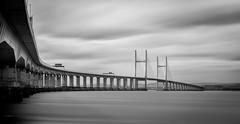 Severn Bridge (Robgreen13) Tags: uk england bw wales bristol mono cloudy windy chepstow englishchannel valeofglamorgan severnbridge