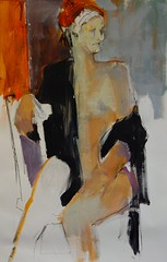 Untitled 28 // by Karen Darling (mike catalonian) Tags: portrait female painting fulllength xxicentury 2010s karendarling