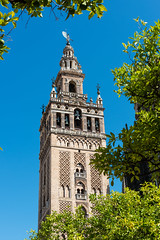 Tower and spire of The Giralda in Seville (basair) Tags: tower monument architecture sevilla spain cathedral minaret seville andalusia giralda
