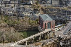 Bricks Amongst The Rocks (billmclaugh) Tags: water photoshop canon power flood dam kentucky reservoir adobe generators hdr highdynamicrange turbines lightroom on1 photomatix hydroelectricgeneratingstation ef70300mmf4556doisusm 5dmiii
