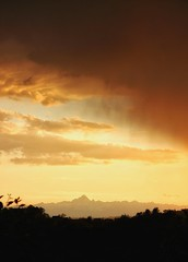 Monviso (ivano2404) Tags: sunset sky orange rain clouds canon photo tramonto view sunsets tramonti pioggia