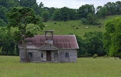 Island View Schoolhouse (kevinmoore57) Tags: creek island highway view cattle schoolhouse tennesee sevierville boyds
