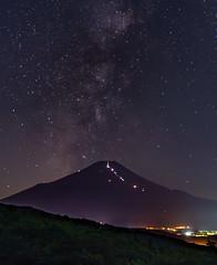 Fuji, summer night sky (shinichiro*) Tags:    jp 20160707ds37882 2016 crazyshin nikond4s afsnikkor2470mmf28ged fuji  oshino yamanashi japan july summer milkyway tanabata   starfestival