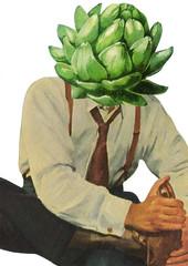 Artie (dadadreams (Michelle Lanter)) Tags: collage collageart funnyfoodart surrealart surrealfood artie artichoke veggie vegetarian vegan anthropomorphicvegetable anthropomorphicfood greenvegetable