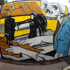 UNCLAN (falopapas_producciones) Tags: falopapas arte unclan casa mural pared calavera skull la plata argentina