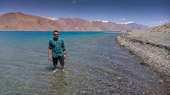 One for the record at Pangong Lake (faram.k) Tags: ladakh lake mountains pangong wading