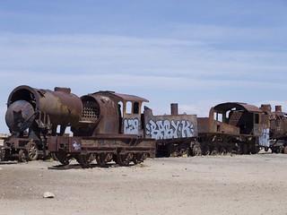 Excursion bolivienne, Uyuni, Cimetière de trains