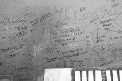 Writings on Museum's Wall (bernada) Tags: yogyakarta jogja keraton museum mural wall writings