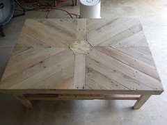 Beautiful Hexagonal Coffee Table (irecyclart) Tags: art livingroom palletcoffeetable palletfurniture pallettable recyclingwoodpallets