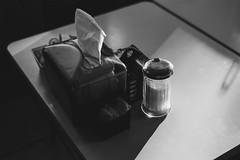 (wickedmartini) Tags: americana light shadow simple moments monochrome monochromatic blackandwhite food eat diner table 50mm michaeldavignon availablelight embracelight details creamandsugar