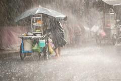 in the heavy rain... (Duy Thanh (td19vn)) Tags: heavyrain fujixpro2 fuji rangefinder fujinon fuji90mmf2 streetlife rain fuji90mm streetphotography xpro2 tropicaldepression life hardlife vendors streetvendors fruits fruitsvendor earnmoney saigon vietnam hochiminh