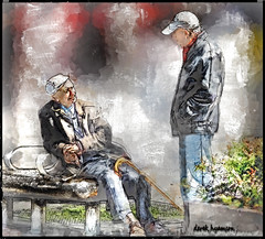 CHATTING (Derek Hyamson (5 Million views)) Tags: chat impression liverpool hdr