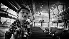 The Top Deck (miniwaites) Tags: nex portrait a6000 blackandwhite bus child doubledecker excitement mono monochrome nik niksuite routemaster sony topdeck windows poundcorner england unitedkingdom gb