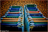 Esperando inquilino. (dapray) Tags: geostate geocountry sillas hamacas playa arena mar sol sitges nikon 7100 cataluña color colour colores colorsinourworld tumbonas