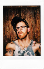 (|Digital|Denial|) Tags: instax fujifilm instantphotography analog colour summer oregon travel abandoned haunted cabin rural remote selfportrait punx tattoos wooden weathered