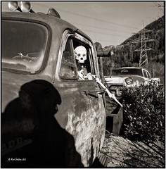 Me and the bone driver_Hasselblad (ksadjina) Tags: 6x6 film analog austria oldtimer silvester tyrol c41 hasselblad500cm kodakportra160 nikonsupercoolscan9000ed carlzeissdistagon40mmf14 oiler69