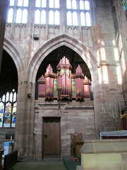 Coventry - St John the Baptist (pefkosmad) Tags: uk england music church architecture worship catholic interior pipes holy organ coventry warwickshire furnishings placeofworship hallowedground churchofengland parishchurch stjohnthebaptist