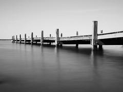 At the Lake Steinhuder Meer (neya25) Tags: bw white lake black landscape see meer long exposure saxony filter silence meditation lower landschaft neutral niedersachsen steinhuder dichte olympusomdem10