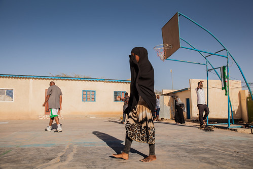 At the basketball court, Hargeisa