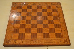 "CHESS BOARD, INLAID WITH KNIGHTS, ETC. • <a style=""font-size:0.8em;"" href=""http://www.flickr.com/photos/51721355@N02/18021512949/"" target=""_blank"">View on Flickr</a>"