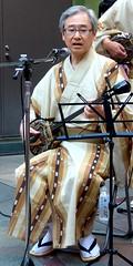 #2132 sanshin () player (Nemo's great uncle) Tags: people okinawa  festa kawasaki  sanshin    haisai   kanagawaprefecture haisaifesta