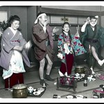 PARTY TIME !!! -- INHIBITIONS GO RIGHT OUT THE WINDOW in a JAPANESE TEA HOUSE thumbnail