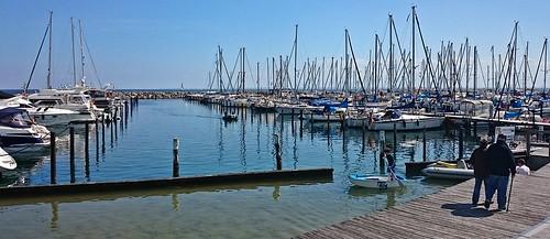 in the marina of Groemitz Germany