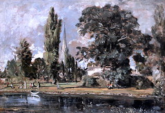 IMG_1560W John Constable. 1776-1837. Londres. Salisbury Cathedral and Leadenhall for the River Avon. La cathdrale de Salisbury et la rivire Avon. 1820.   Londres National Gallery. (jean louis mazieres) Tags: greatbritain london museum painting unitedkingdom muse nationalgallery londres museo peintures johnconstable grandebretagne