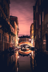 Night Canals, Venice, Italy (FARR Frameworks) Tags: travel venice italy water architecture reflections canal italia nightlights explore venizia