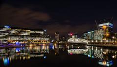 Webb Bridge, Melbourne (yecatsiswhere) Tags: city bridge skyline architecture marina river lights pier waterfront footbridge dusk au australia melbourne victoria yarra docklands cbd