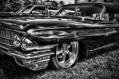 IMG_0150 (Silverio Photography) Tags: blackandwhite classic monochrome car boston photoshop canon vintage sigma cadillac anderson elements suburb 1770 vignetting brookline hdr topaz adjust larz 60d