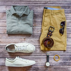 Grey polo, handgrade white sneaker (kent_wang) Tags: stylesofman outfitgrid sneaker poloshirt customer outfit