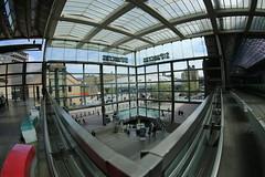 St Pancras (5) (Eugene Regis) Tags: london station camden fisheye trainstation kingscross stpancras fisheyelens railstation saintpancras stpancrasinternational
