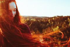 RED FREEDOM I (Martin Neuhof | martin-neuhof.com) Tags: morning red girl sunrise hair switzerland good redhead bohemian