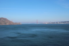view of the Golden Gate Bridge from the black sand beach (olive witch) Tags: ocean sf california bridge mountain landscape outdoors day august bayarea 2015 aug15 abeerhoque