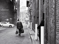 Going Away (Something Sighted) Tags: street blackandwhite philadelphia alley noiretblanc streetphotography philly philadelphie scnederue