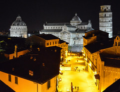 Pisa at Night (chriswalts) Tags: travel sunset italy streets tower night pisa leaning