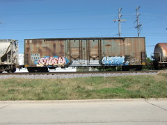 09-13-10 (47) (This Guy...) Tags: road railroad car train hope graffiti box graf rail rr traincar much boxcar graff 2010 hope4