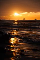 Boats at sunset (Aschwinn) Tags: sunset zonsondergang noordzee northsea maasvlakte