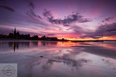 Portobello Sunset (Created Eye Photography) Tags: sunset colour reflection beach canon scotland europe portobello edinbrugh 550d