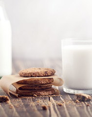 Good Morning (vladacvphotography) Tags: wood morning food sun sunlight color macro cookies milk nikon colorful soft sweet chocolate 85mm 85 tabe foodphotography nikond3100