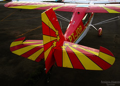 The Citabria (Antnio A. Huergo de Carvalho) Tags: red color colors yellow cores airplane aircraft aviation american aca avio cor aviao aerobatic aerobatics bellanca citabria acrobtico americanchampionaircraft acrobaciaarea aviaogeral ptjop